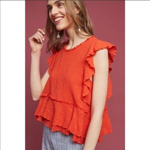 Anthropologie Maeve Cascade tiered shell Small